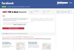 Convert your PDF's to Word with this Facebook app