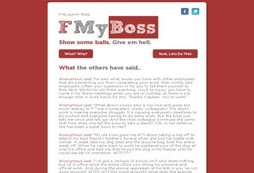 Vent and rant about your boss