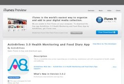 Activ8rlives 3.0 Health Monitoring and Food Diary App