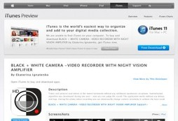 BLACK + WHITE CAMERA -VIDEO RECORDER WITH NIGHT VISION AMPLIFIER