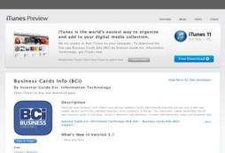Business Cards Info App stores
