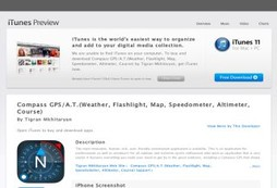 Compass GPS/A.T.(Weather, Flashlight, Map, Speedometer, Altimeter, Course)