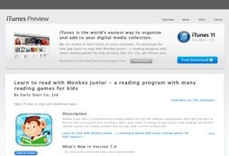 Learn to read with Monkey Junior - a reading program with many reading games for kids
