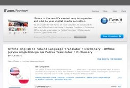 Offline English to Poland Language Translator / Dictionary . Offline języka angielskiego na Polska T