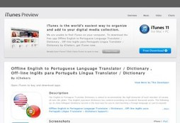 Offline English to Portuguese Language Translator / Dictionary , Off-line Inglês para Português Líng