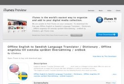 Offline English to Swedish Language Translator / Dictionary . Offline engelska till svenska språket