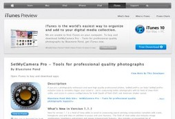 SetMyCamera Pro - Tools for professional quality photographs