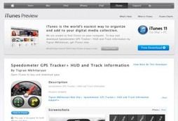 Speedometer GPS Tracker+ HUD and Track information