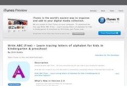 Write ABC (Free) - Learn tracing letters of alphabet for kids in kindergarten & preschool