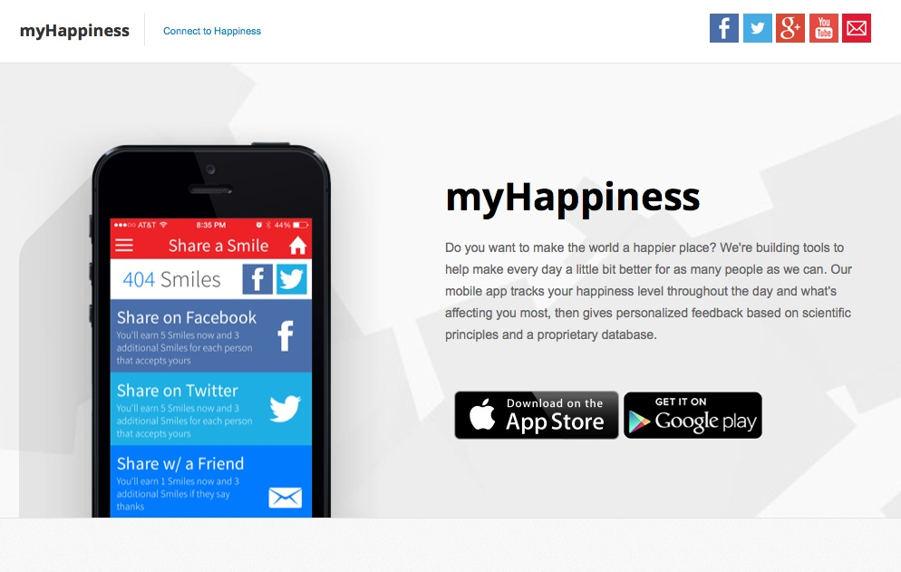 Track and record your happiness and spread a little smile