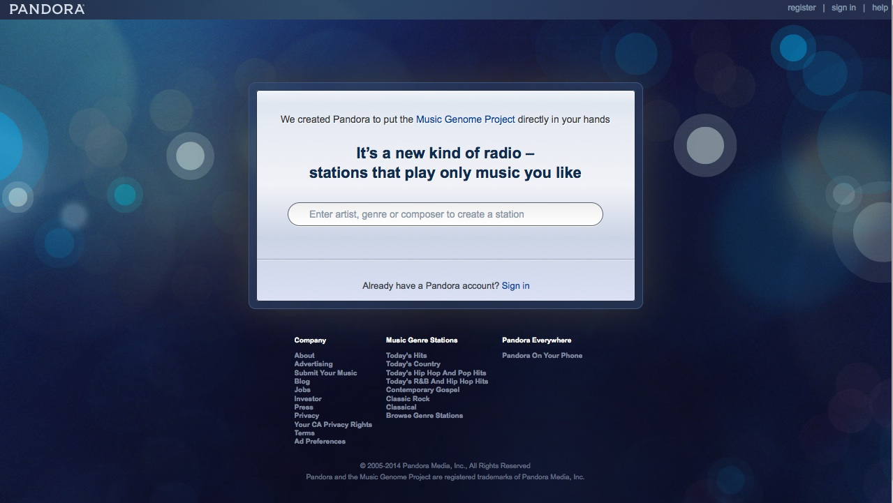 The most intuitive of all internet radio stations
