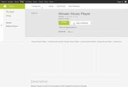 Mosaic Music Player