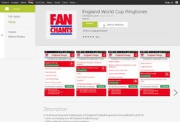 England to win the World Cup? Show your support with fanchants and ringtones!
