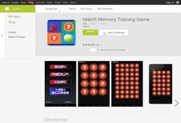 Match Memory Training Game