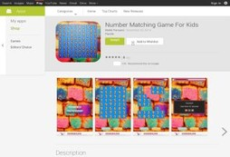 Number Matching Game For Kids