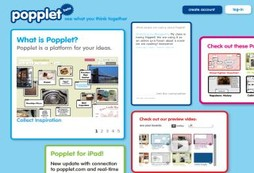 Popplet for the web and iPad - new feature versions