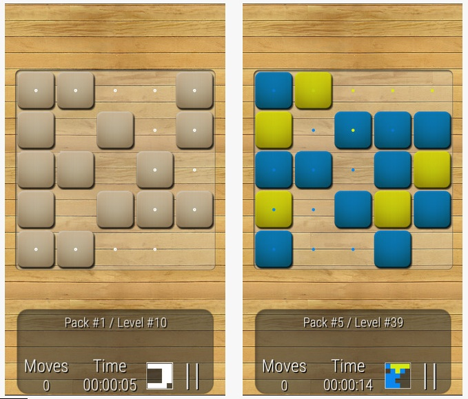 Quadrex - The puzzle game about scrolling tile blocks to form a pattern picture