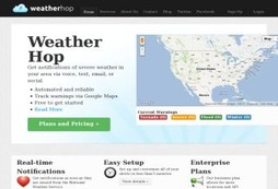 Get early warning severe weather alerts pushed to multiformats