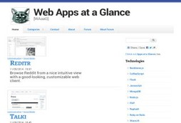 Web Apps at a Glance