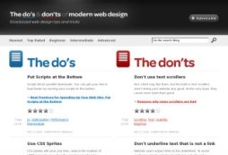 The do's & don'ts of modern web design