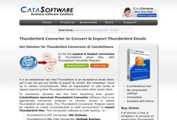 Thunderbird Converter- CataSoftware