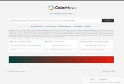 Color information for web designers