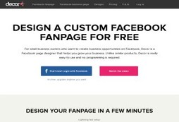 Step-by-step Facebook fanpage design tool for free