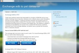 edb to pst converter and exchange server recovery tool