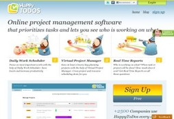 Online project management software that prioritizes tasks and lets you see who is working on what