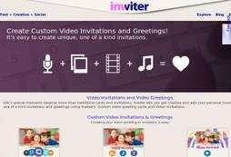Create and send slick video greetings cards to your friends and family