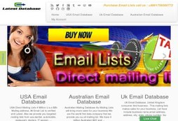 Direct Mailing Lists Database for Email Marketing