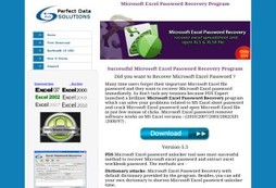 Microsoft Excel password Recovery