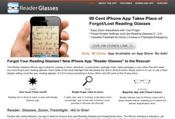 The perfect iPhone app for when you forget or lose your glasses