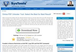 Unlock PDF File with the Online PDF Unlocker Software