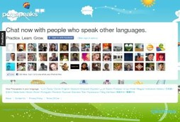 Social network for people learning a foreign language