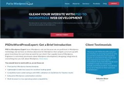 PSD to Wordpress Experts