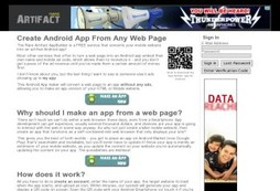 An Android app to create Android apps from any web page