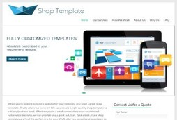 Custom Shop Template Design Service