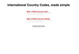 Simple Country Codes