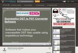 Recover crashed Outlook OST files to PST files