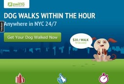 NYC dogwalkers at your door in an hour