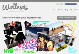 Create and share scrapbooks with social friends
