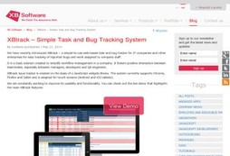 XBtrack task and bug tracking system